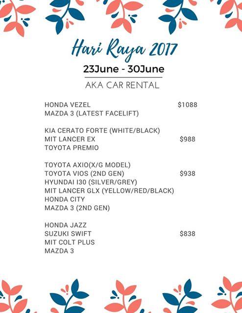 car rental singapore p-plate