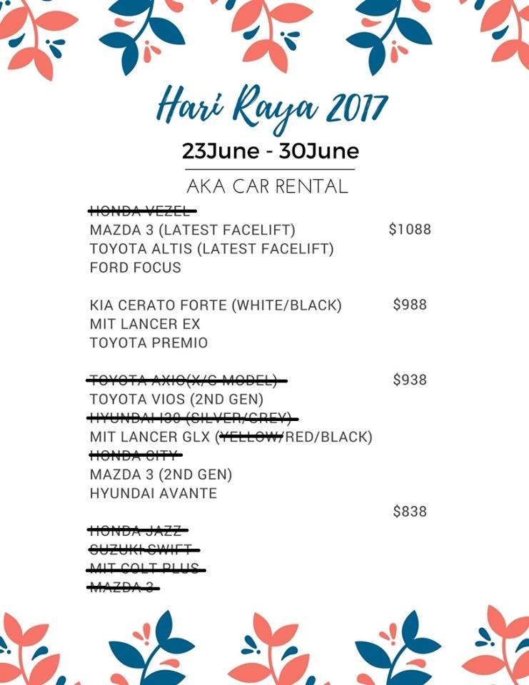 p-plate car rental singapore car rental