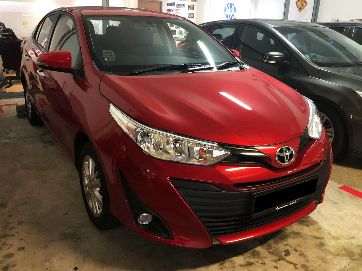Toyota Vios 1.5 E [Red] (For Rent)