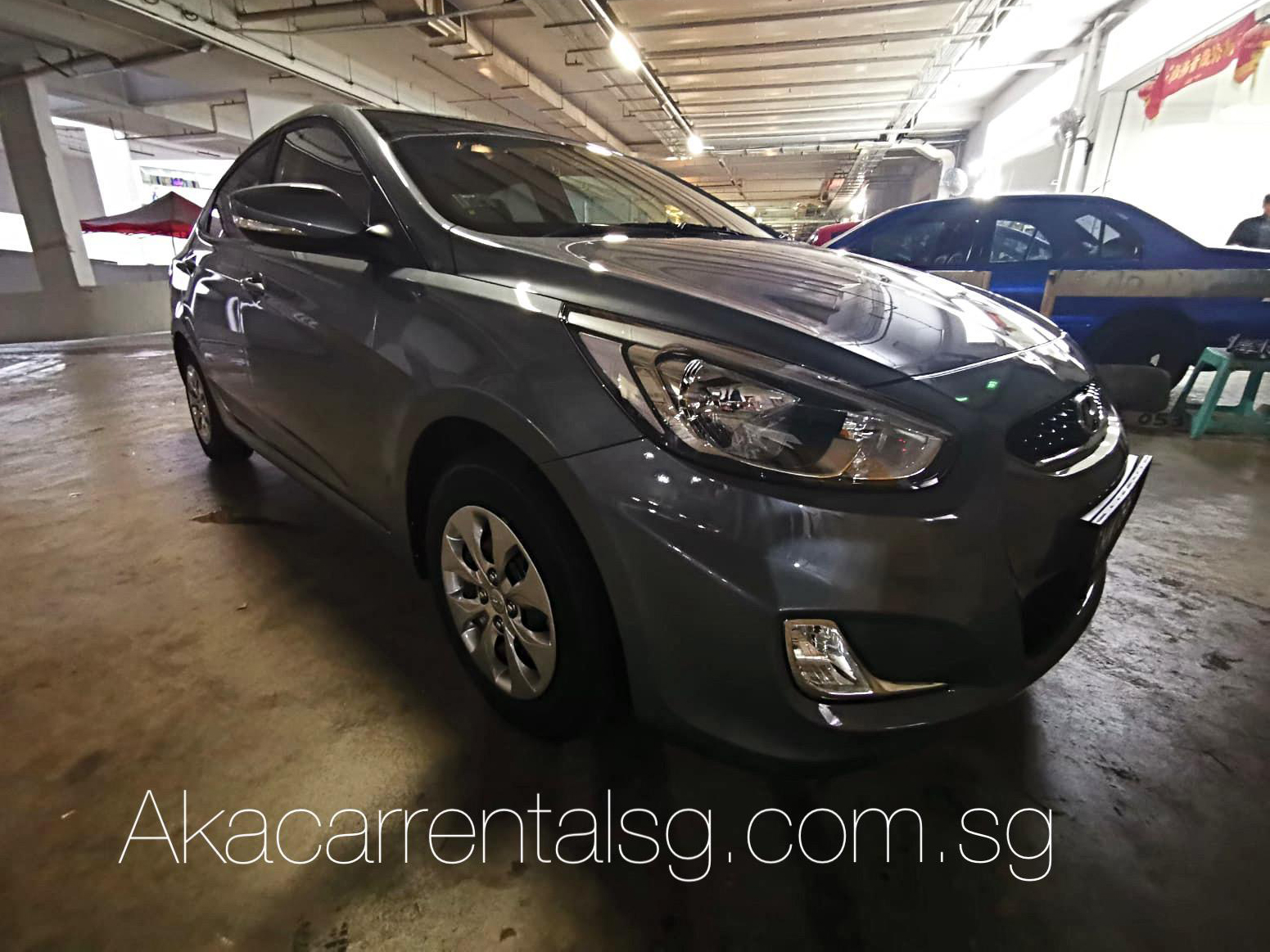 Hyundai Accent RB 1.4 CVT [Grey] (For Rent)